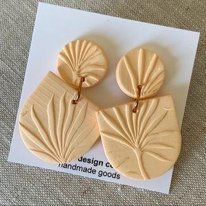 Peach Summer Clay Earrings